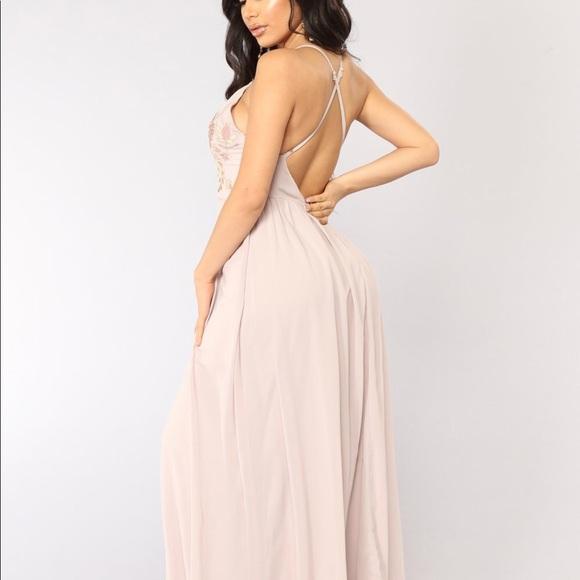 e3acf7a5731 Fashion Nova light pink maxi dress.